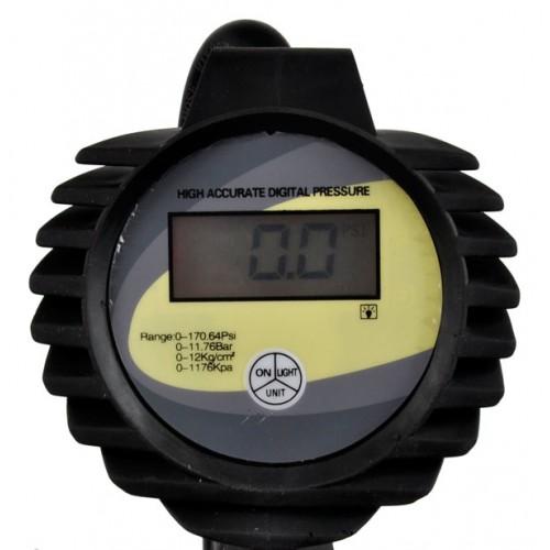 Riepu pumpēšanas pistole ar LCD displeju, 12 bar