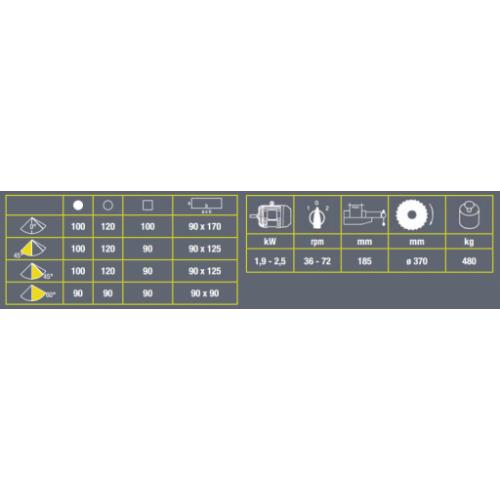 Pusautomātiskais ripzāģis metālam VIBER-SYSTEM MKS 350 VH