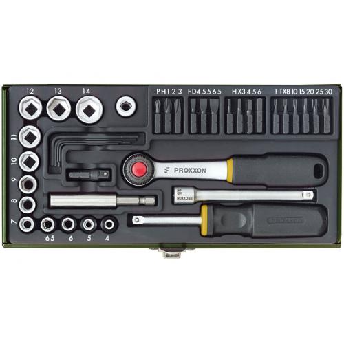 Atslēgu komplekts Proxxon 1/4'', 4-13 mm, 35 gab.