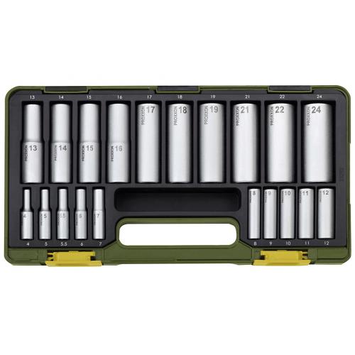 Atslēgu komplekts Proxxon 1/2''+1/4'', 4-24 mm, 20 gab.