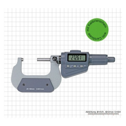 Digitālais mikrometrs 0-25mm kalibrēts, ar sertifikātu