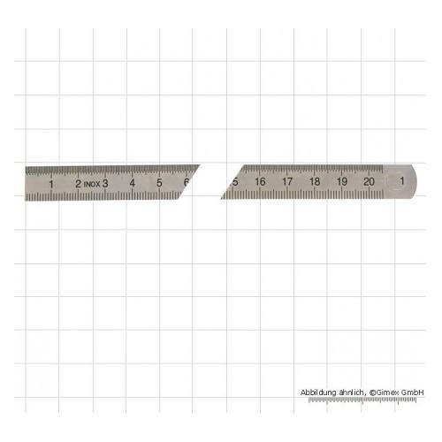 Lineāls 500x18x0,5 mm Inox