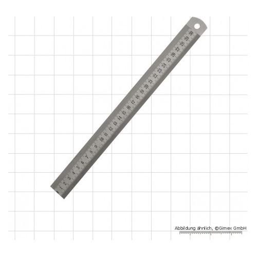Lineāls 300x19x1,0 mm Inox