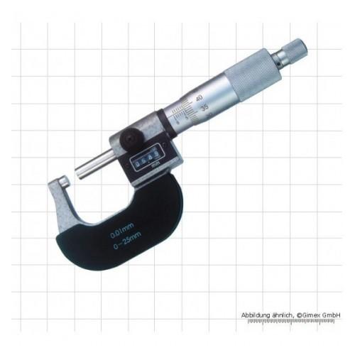 Mikrometrs ar skaitītāju 0-25mm, 0.01mm, DIN 863