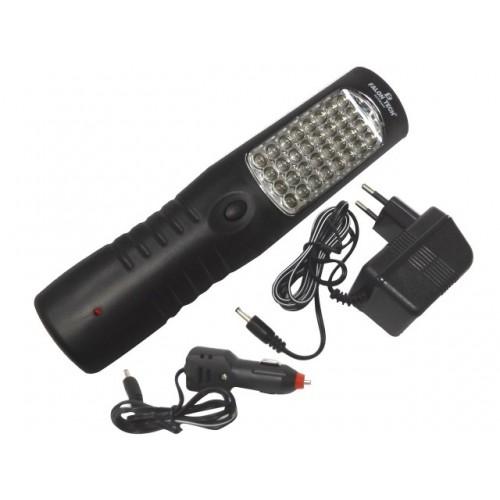 Lampa 28+4+3 LED + hak 2000 MAH
