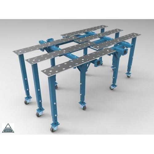 Metināšanas darba galds 2670 x 1600 mm (1500x1600 + 8x kājas)