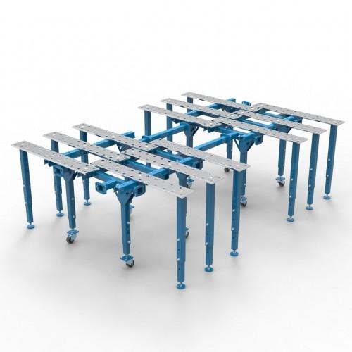 Metināšanas darba galds 2170 x 3030 mm (2x 1200x1200 + konektors L630mm + 12x kājas)