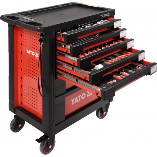 Instrumentu skapis YT-55290 ar 211 instrumentiem un 7 atvilktnēm