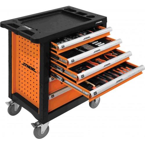 Instrumentu skapis VYT-58550 ar 302 instrumentiem un 6 atvilktnēm