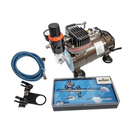 Kompresors ar aerografu TC802K + TG130 + AH305