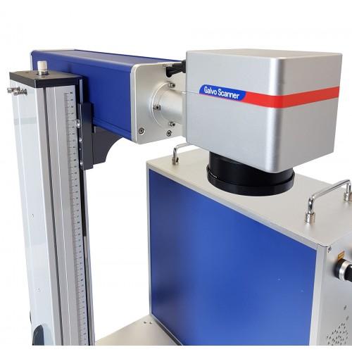 Šķiedras lāzera marķēšanas iekārta 30 W LASER FIBER + rotācijas ass + EZCAD