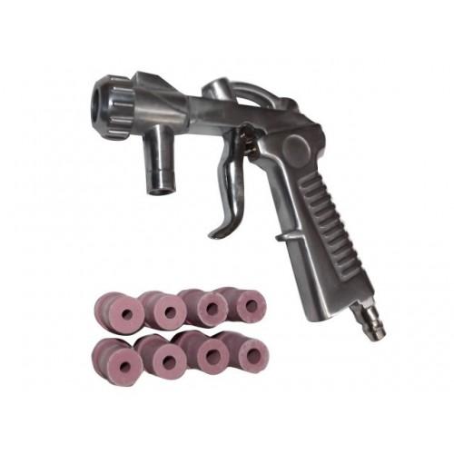 Smilšu strūklas pistole + 8 dīzes