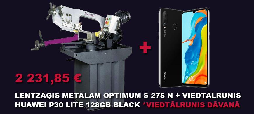 Lentzāģis metālam Optimum S 275 N + viedtālrunis Huawei P30 Lite 128GB Black (viedtālrunis dāvanā)